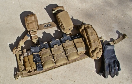 Ammunition Carrying Chest Rig 01