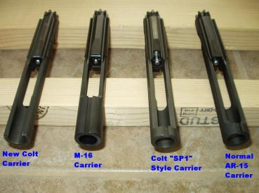 ar15 m16 sp1 bolt carrier comparision