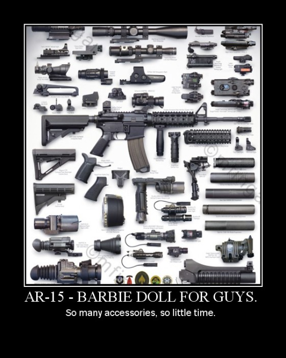 AR15 Barbie Doll For Guys