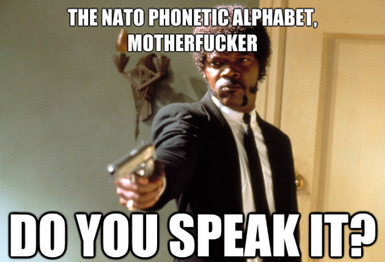 Nato Phoenitic Alphabet