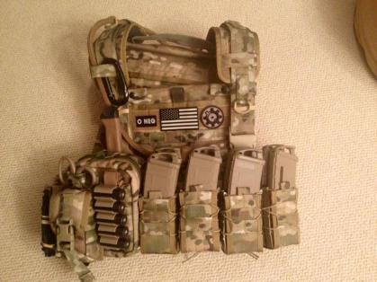 Body Armor Ballistic Plate Carrier With Ammunition Pouches
