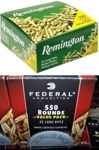 Remington Golden Bullets and Federal Bulk Pack
