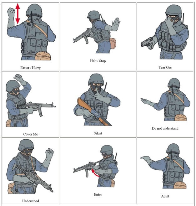 SWAT Hand Signals 2