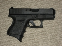 Glock 26 with Pearce Finger Grip