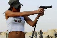 Leah Shooting Beretta M9