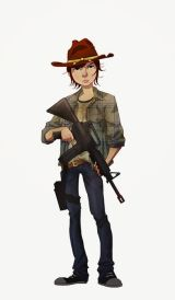 carl walking dead art