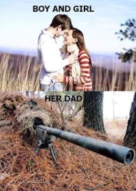 Daughter Dating Dad Gun Funny Meme 01