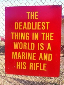 Deadliest Thing Marine and His Rifle
