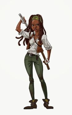 michonne walking dead art