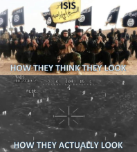 Isis Isil IS helicopter gun camera meme