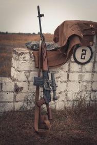 Russian sniper's rifle