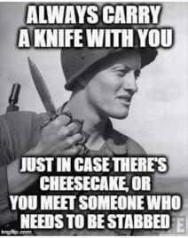carry a knife meme