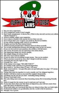 murphy's laws of combat