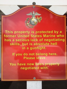 property protected by marine