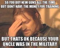 guns lack of training meme