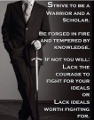 strive to be a warrior and a scholar