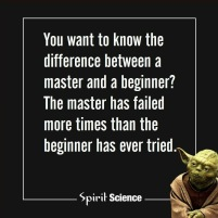 training master vs beginner yoda meme