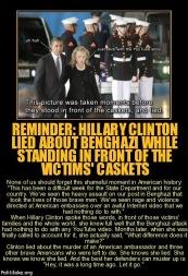 Hillary Lied