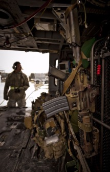 M4 Carbine Mounted in UH60 Helicopter