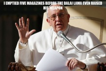 Pope Shooting Funny Meme 01