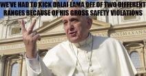 Pope Shooting Funny Meme 02