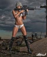 Sexy Woman Rifle