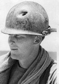 Steel Pot Helmet With Bullet Hole