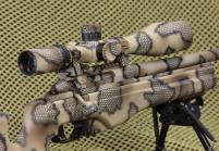 camo precison rifle and scope