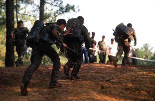 uphill military run