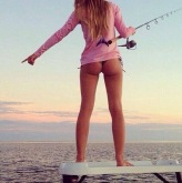 hot girl fishing ass