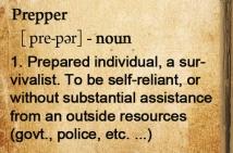 Prepper Definition
