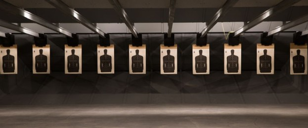 Indoor Shooting-Range with targets