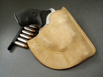 Leather Pocket Holster For Snubnose Revolvers