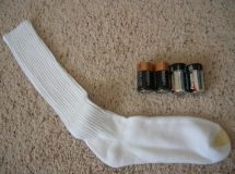 sock with batteries improvised weapon