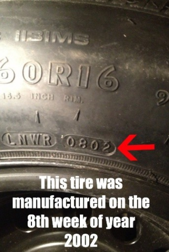 tire manufacture date identication