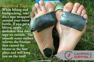 Hiking Camping Hacks Duct Tape Blister Prevention