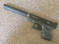 Glock 26 with Advantage Arms .22LR Conversion Kit and AAC Element II Suppressor