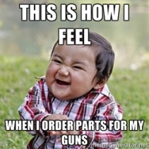 this is how i feel when i order parts for my guns meme