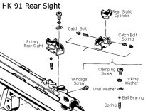 HK-91 G3 Rear Sight Exploded Diagram