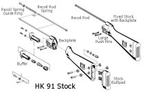 HK-91 G3 Stock Assembly Exploded Diagram