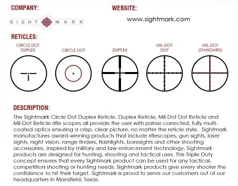 Sightmark Optics Reticles
