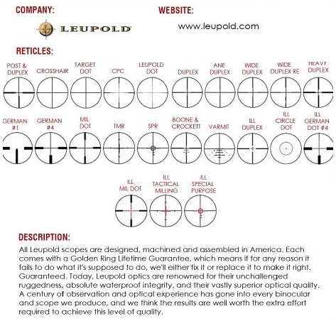Leupold Reticles