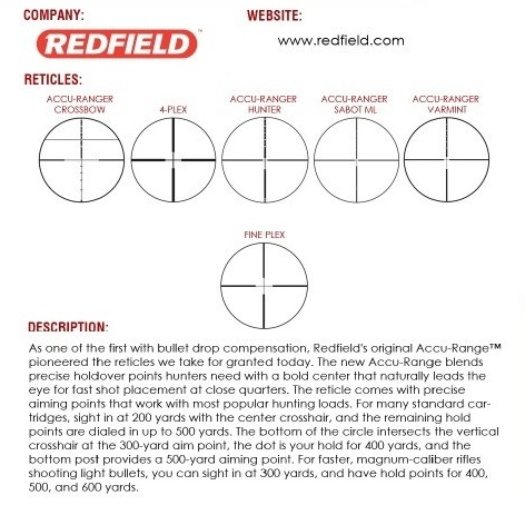 Redfield Reticles