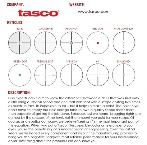 Tasco Reticles