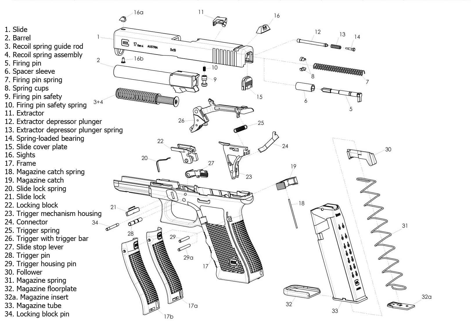 40 Glock Schematic Diagram Get Free Image About Wiring
