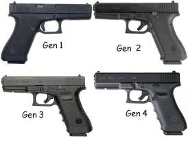 Glocks: Gen 1, 2, 3, 4