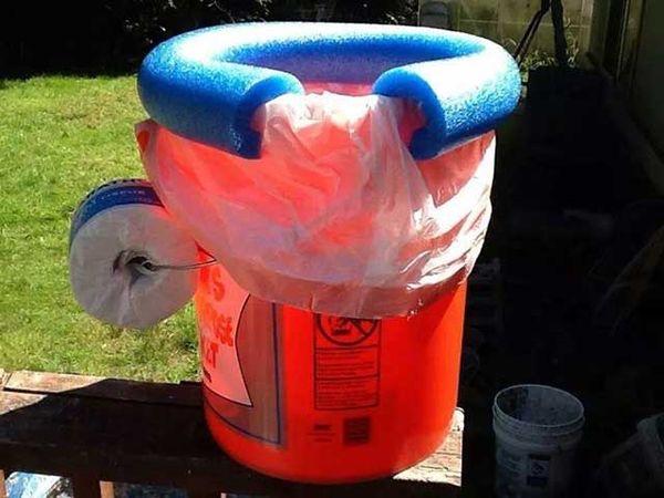 Five Gallon Bucket Camp Toilet