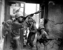 UN Troops Fighting In The Streets Of Seoul, Korea With M1 CArbine