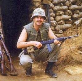 Mick Mickolson With M1 Carbine