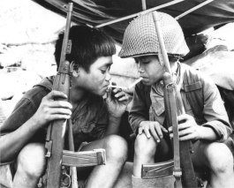 Viet Nam kids with carbines